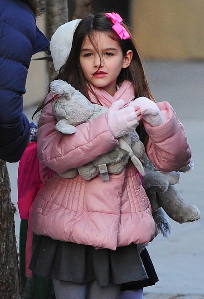NEW YORK, NY - NOVEMBER 29: Suri Cruise is seen in Chelsea at Streets of Manhattan on November 29, 2012 in New York City. (Photo by Alo Ceballos/FilmMagic)
