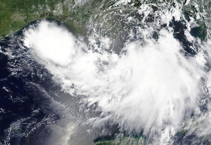 Tropical Storm Barry is shown in the Gulf of Mexico approaching the coast of Louisiana, U.S. in this July 11, 2019 NASA satellite handout photo. (Photo: NASA/Handout via Reuters)