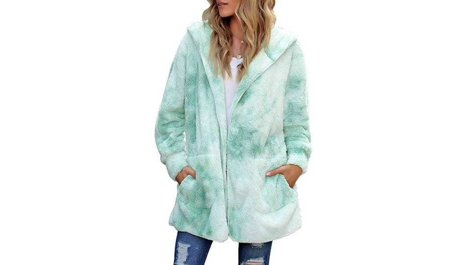 ACKKIA Open Front Oversized Hooded Cardigan (Photo: Amazon)