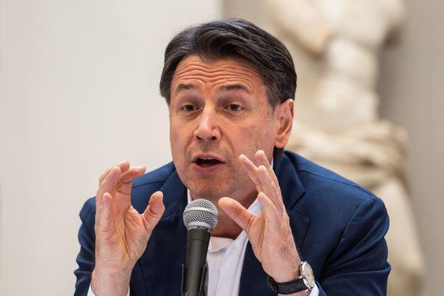 NAPLES, ITALY - JUNE 15: Giuseppe Conte attends the press conference on June 15, 2021 in Naples, Italy. The political head of the 5 Star Movement and former Prime Minister Giuseppe Conte visits Naples on the occasion of a meeting with Gaetano Manfredi, candidate for mayor of Naples for the coalition that includes the Democratic Party and the LEU. (Photo by Ivan Romano/Getty Images) (Photo: Ivan Romano via Getty Images)