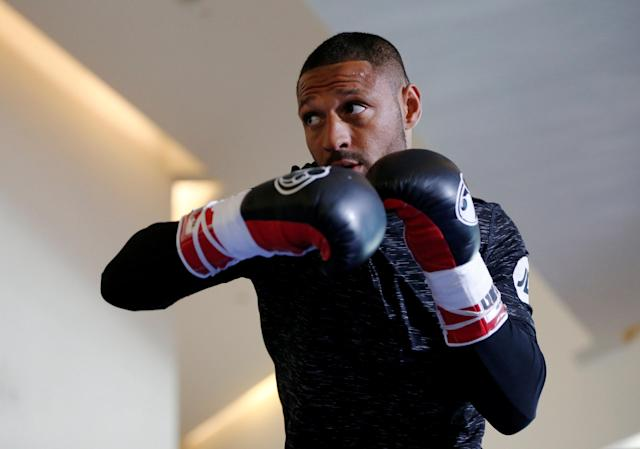 Boxing - Kell Brook Public Work-Out - Crucible Theatre, Sheffield, Britain - February 15, 2018 Kell Brook during his work-out Action Images via Reuters/Ed Sykes