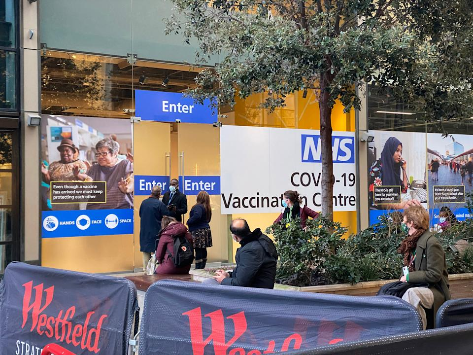 Standard Investigation: Covid-19 vaccination centre at Westfield, Stratford.Lucy Young