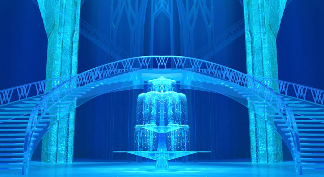 "<span>High ceilings, polished floors and flawless staircases – all made from ICE. If that sounds like fiction, think again. The palace Elsa builds during the Let It Go sequence is based on an uber cool hotel. [Photo: Disney via </span><a rel=""nofollow"" href=""http://frozen-is-awesome.weebly.com/""><span>frozen-is-awesome.weebly.com</span></a><span>]</span>"