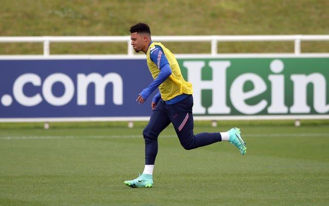 Jadon Sancho is currently on duty with England at Euro 2020 (Nick Potts/PA)