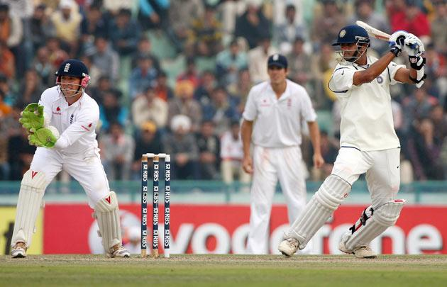 After a barren run in Test matches in 2008, Dravid came under increasing media pressure to retire or be dropped. Dravid answered his critics in the best manner possible when he scored 136 and put on a triple-century stand with Gautam   Gambhir in the second Test against England at Mohali.