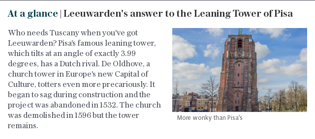 At a glance | Leeuwarden's answer to the Leaning Tower of Pisa