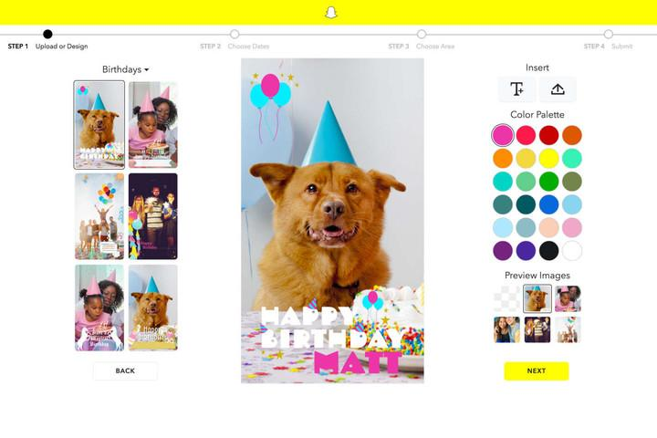 Snapchat's custom geofilters tool could also benefit from the deal