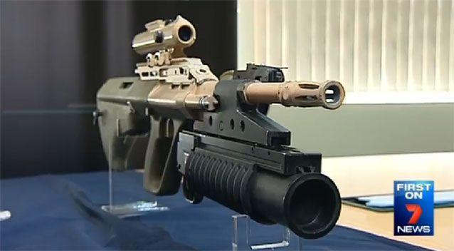 The F90 - the ADF's new assault rifle. Source: 7 News