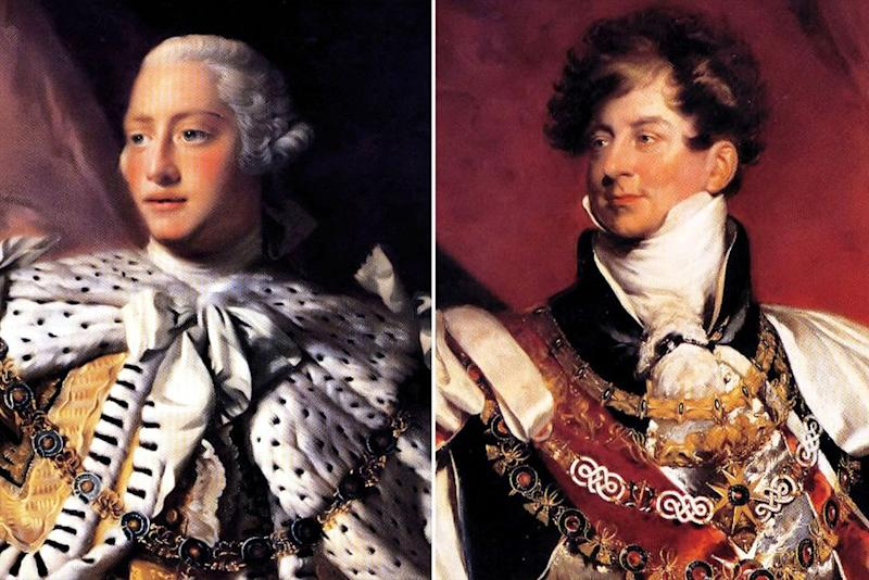 George III (left) and George IV | Universal History Archive/UIG/Shutterstock (2)