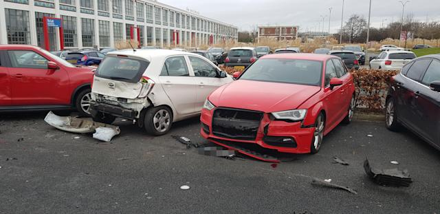 Witnesses say the motorist was female, believed to be in her early to mid-twenties (MERCURY PRESS)