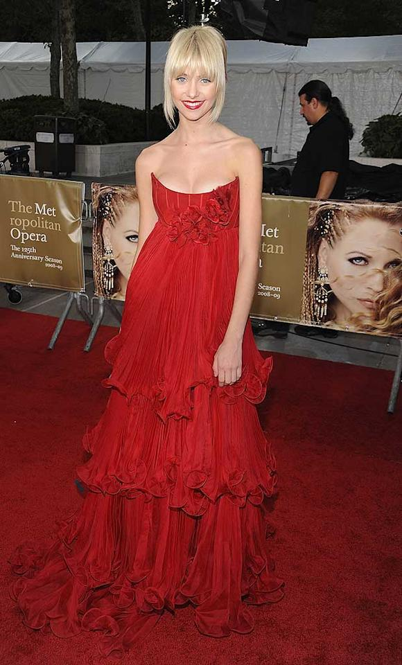 "September 2008: At the Metropolitan Opera Gala, Taylor looked absolutely stunning in a tiered ruby dress and matching red lipstick for a dramatic effect.   <a href=""http://www.seventeen.com/fashion/tips/style-stars-2010?link=rel&dom=yah_omg&src=syn&con=art&mag=svn"" target=""new"">See Seventeen's Style Stars of the Year</a> Dimitrios Kambouris/<a href=""http://www.wireimage.com"" target=""new"">WireImage.com</a> - September 22, 2008"