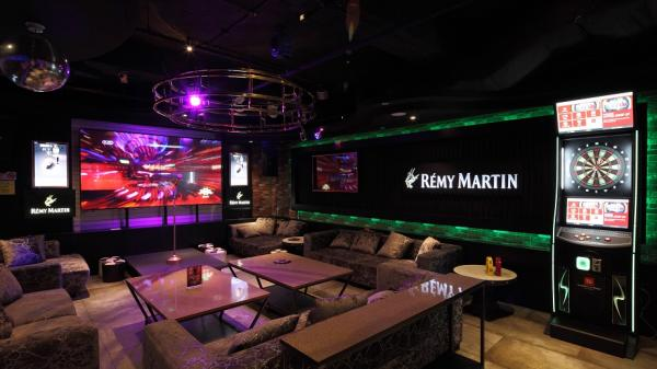 Interior shot of one of the two VVIP rooms at HaveFun Family KTV
