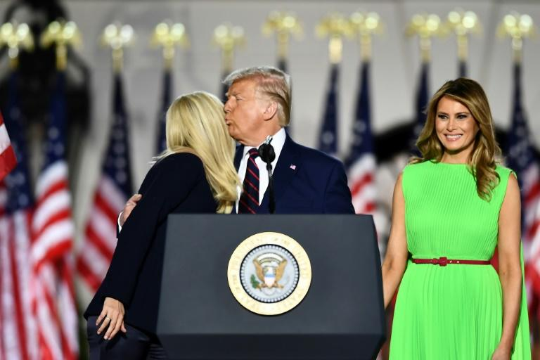 Melania Trump (right) exchanged a frosty glare with her stepdaughter Ivanka at the 2020 Republican convention