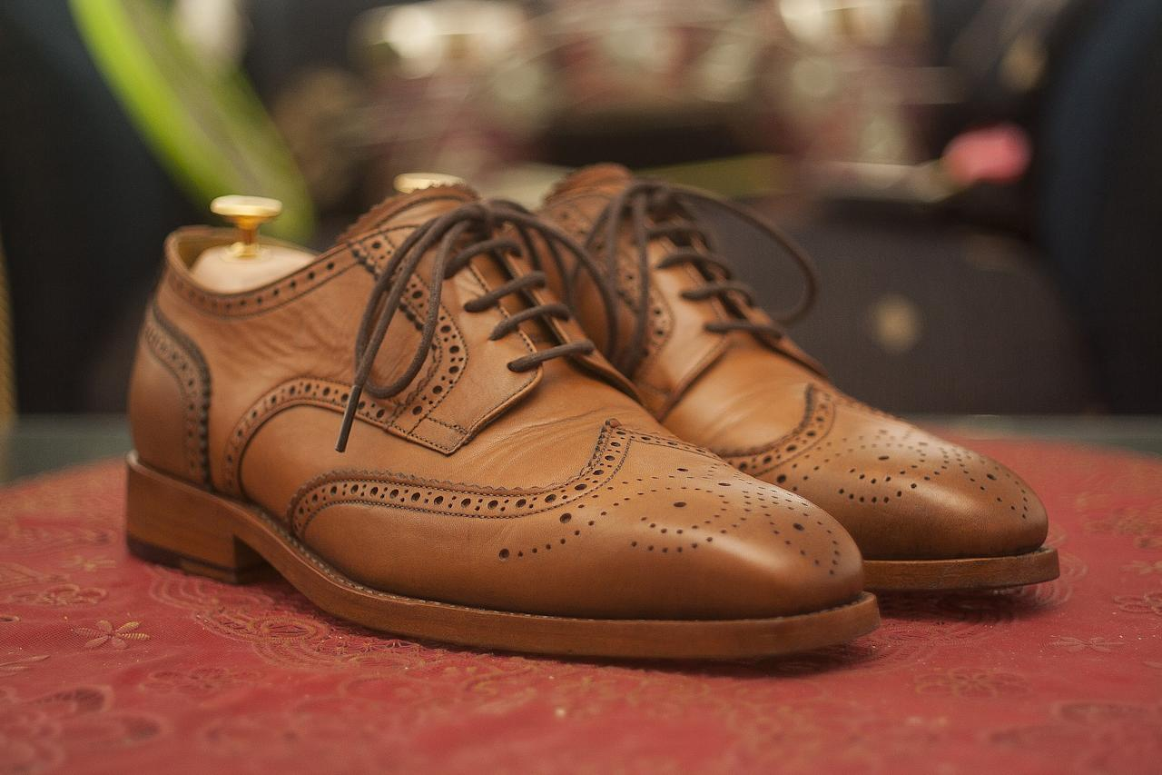 <p>Brown or tan brogues have the perfect amount of semi-casual/semi-formal look to them. Dress it up or down, wear it with jeans or formal pants—it won't disappoint. </p>