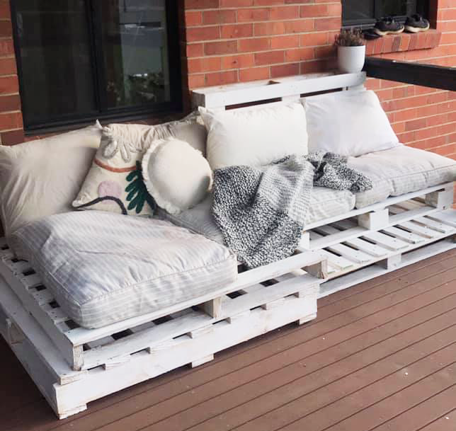Outdoor furniture piece Kmart day bed