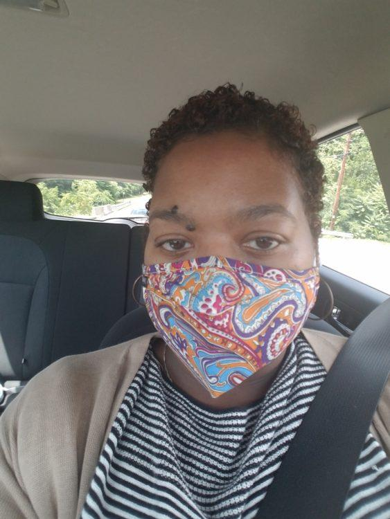 the author in a medical mask