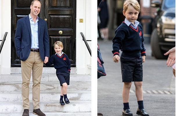 Prince George started school in London last week.