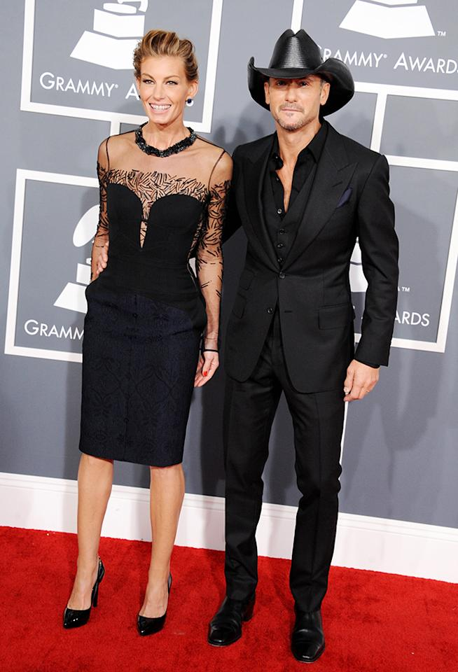 Faith Hill and Tim McGraw arrive at the 55th Annual Grammy Awards at the Staples Center in Los Angeles, CA on February 10, 2013.