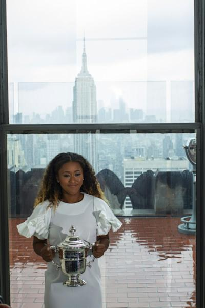 A star is born: Naomi Osaka with the US Open trophy