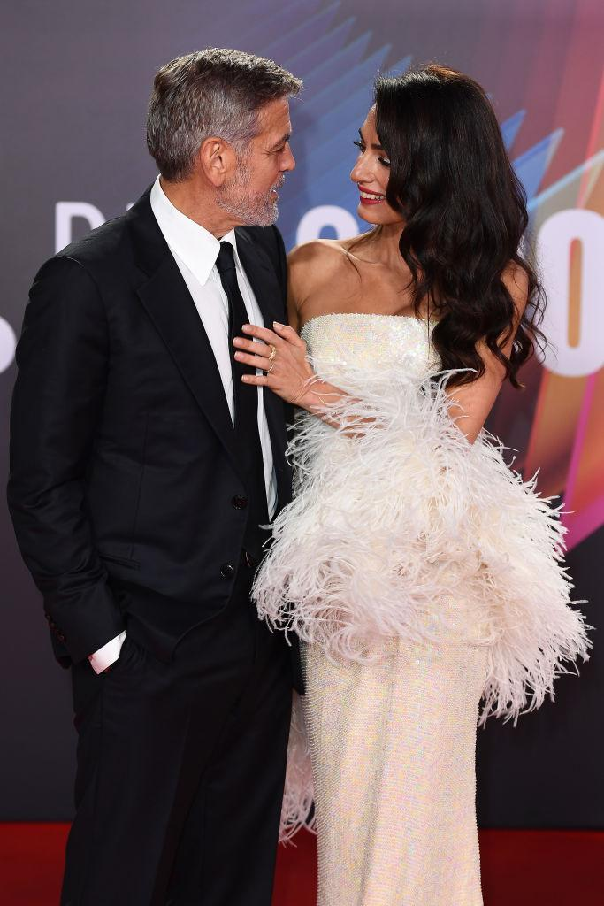 The couple made a rare red carpet appearance together last night. (Getty Images)