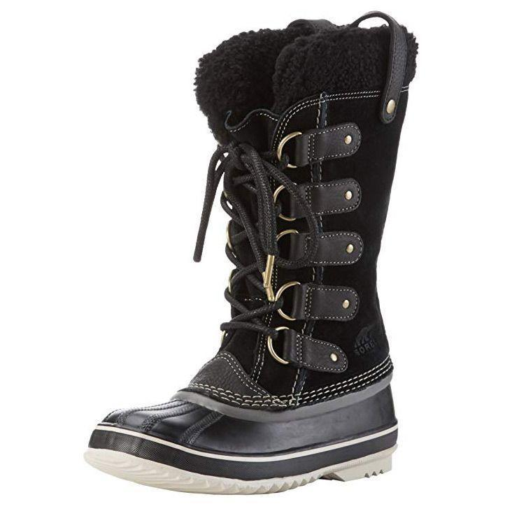 """<p><strong>Sorel</strong></p><p>amazon.com</p><p><strong>113.99</strong></p><p><a href=""""https://www.amazon.com/dp/B001OTYXE0?tag=syn-yahoo-20&ascsubtag=%5Bartid%7C10055.g.29389536%5Bsrc%7Cyahoo-us"""" rel=""""nofollow noopener"""" target=""""_blank"""" data-ylk=""""slk:Shop Now"""" class=""""link rapid-noclick-resp"""">Shop Now</a></p><p>If you're heading out to play in the snow all day, you need the warmest pair of winter boots you can find. Sorel's Joan of Arctic Boot features <strong>a leather upper and rubber sole with a gusseted tongue</strong><strong> to keep your toes totally protected</strong>. The shaft is 11.5"""" high, providing ample coverage even in deep snow. The fuzzy plush inside with felt insulation is credited in creating a super warm boot.</p>"""