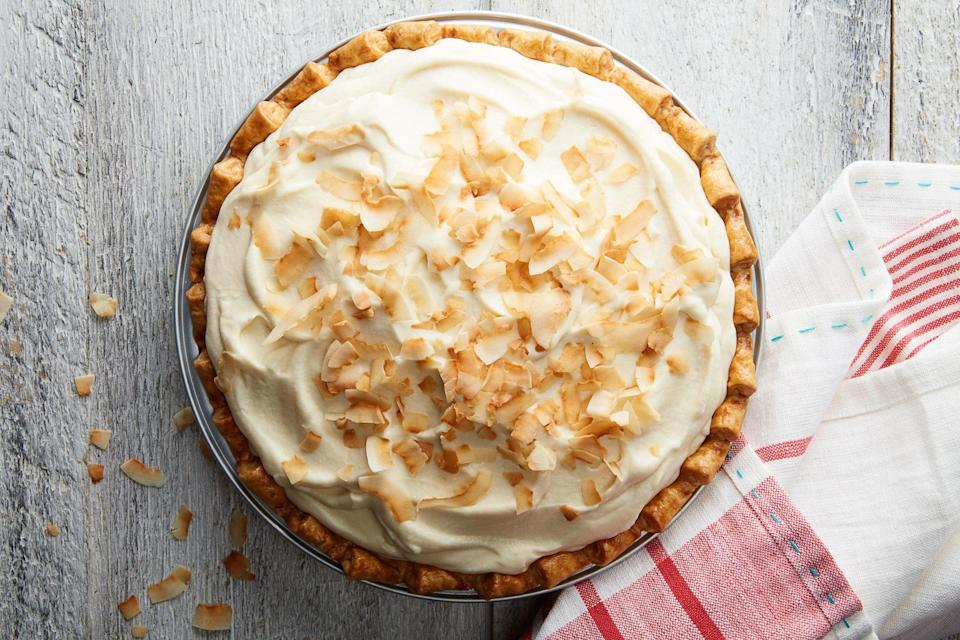 "This Easter recipe is a classic that relies on <a href=""https://www.epicurious.com/expert-advice/best-cream-pie-trick-article?mbid=synd_yahoo_rss"" rel=""nofollow noopener"" target=""_blank"" data-ylk=""slk:a few new tricks"" class=""link rapid-noclick-resp"">a few new tricks</a> to make the most ethereal coconut pie you can imagine. <a href=""https://www.epicurious.com/recipes/food/views/coconut-cream-pie?mbid=synd_yahoo_rss"" rel=""nofollow noopener"" target=""_blank"" data-ylk=""slk:See recipe."" class=""link rapid-noclick-resp"">See recipe.</a>"