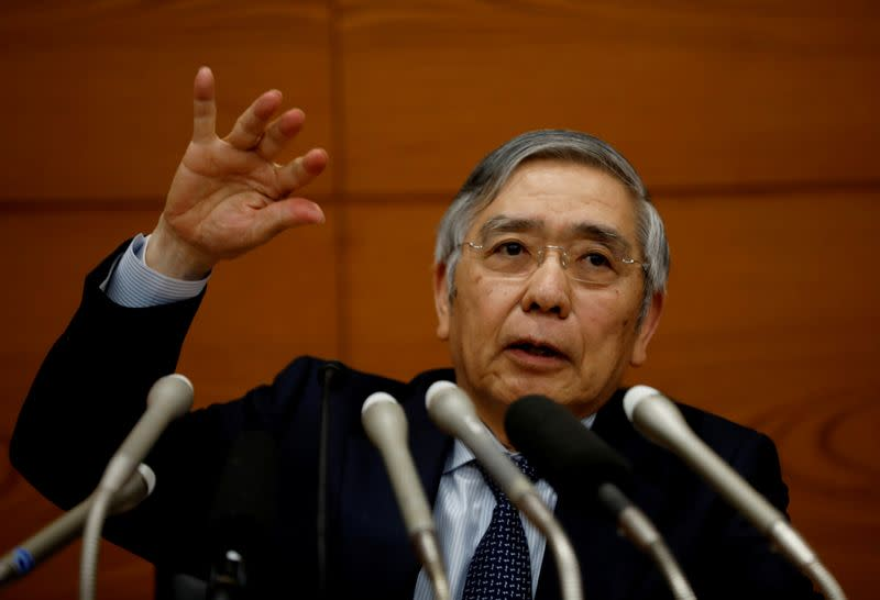 Bank of Japan Governor Haruhiko Kuroda speaks at a news conference in Tokyo