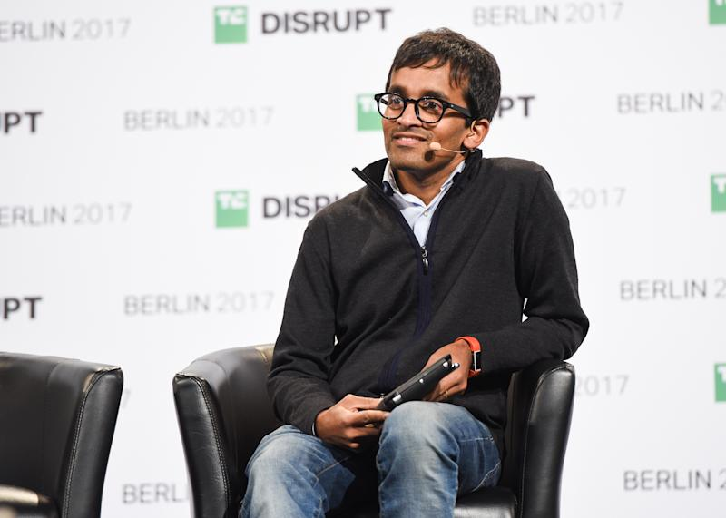 BERLIN, GERMANY - DECEMBER 05: Balderton Capital General Partner Suranga Chandratillake talks at TechCrunch Disrupt Berlin 2017 at Arena Berlin on December 5, 2017 in Berlin, Germany. (Photo by Noam Galai/Getty Images for TechCrunch )