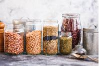 """<p>Beans, peas, lentils, peanuts, and chickpeas are excellent sources of fiber and <a href=""""https://www.prevention.com/food-nutrition/healthy-eating/a20514733/high-protein-vegetables-and-plant-based-food/"""" rel=""""nofollow noopener"""" target=""""_blank"""" data-ylk=""""slk:plant-based protein"""" class=""""link rapid-noclick-resp"""">plant-based protein</a> to stabilize blood sugar and keep cravings at bay. They also help nourish a <a href=""""https://www.prevention.com/food-nutrition/healthy-eating/g23310235/probiotic-foods-for-gut-health/"""" rel=""""nofollow noopener"""" target=""""_blank"""" data-ylk=""""slk:healthy microbiome"""" class=""""link rapid-noclick-resp"""">healthy microbiome</a>. </p><p>""""A healthy gut microbiome is known to help regulate inflammation, lower blood lipids (<a href=""""https://www.prevention.com/health/a20431093/how-to-lower-cholesterol-naturally-0/"""" rel=""""nofollow noopener"""" target=""""_blank"""" data-ylk=""""slk:cholesterol"""" class=""""link rapid-noclick-resp"""">cholesterol</a>) and regulate <a href=""""https://www.prevention.com/food-nutrition/healthy-eating/a20503059/power-foods-that-boost-immunity/"""" rel=""""nofollow noopener"""" target=""""_blank"""" data-ylk=""""slk:immune function"""" class=""""link rapid-noclick-resp"""">immune function</a>,"""" explains Suzanne Dixon, RD, a dietitian with The Mesothelioma Center at <u><a href=""""https://www.asbestos.com/"""" rel=""""nofollow noopener"""" target=""""_blank"""" data-ylk=""""slk:Asbestos.com"""" class=""""link rapid-noclick-resp"""">Asbestos.com</a></u>. She recommends including at least five serving of legumes in your diet weekly.</p>"""