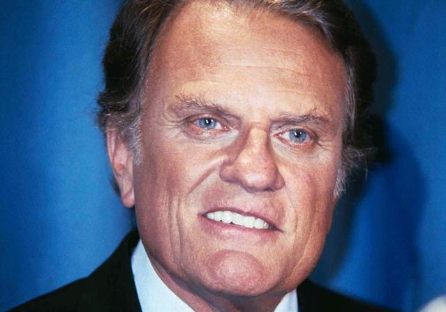 <p>The Rev. Billy Graham holds a press conference on May 19, 1982, in New York. (Photo: Dave Pickoff/AP) </p>
