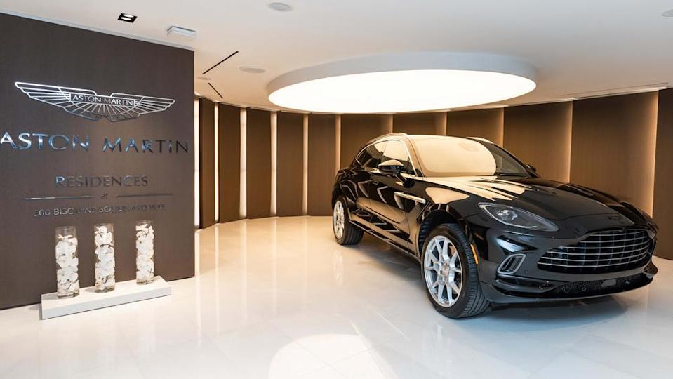 Aston Martin S New Residences In Miami Come With A Jet Black Dbx Suv