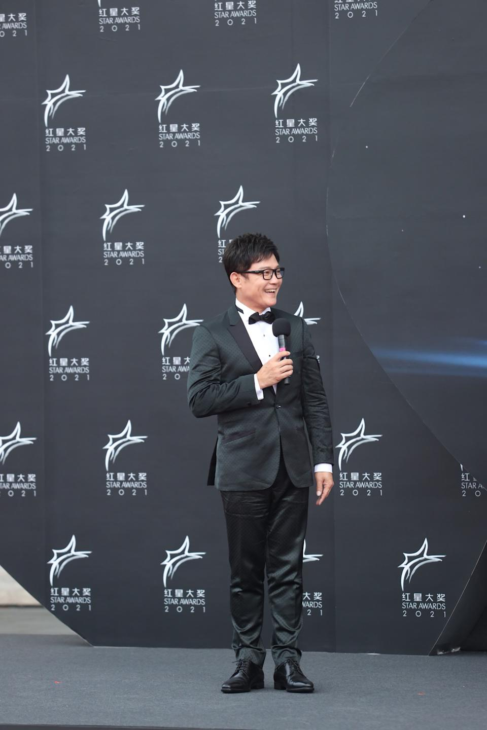 Wang Yu Qing at Star Awards held at Changi Airport on 18 April 2021. (Photo: Mediacorp)