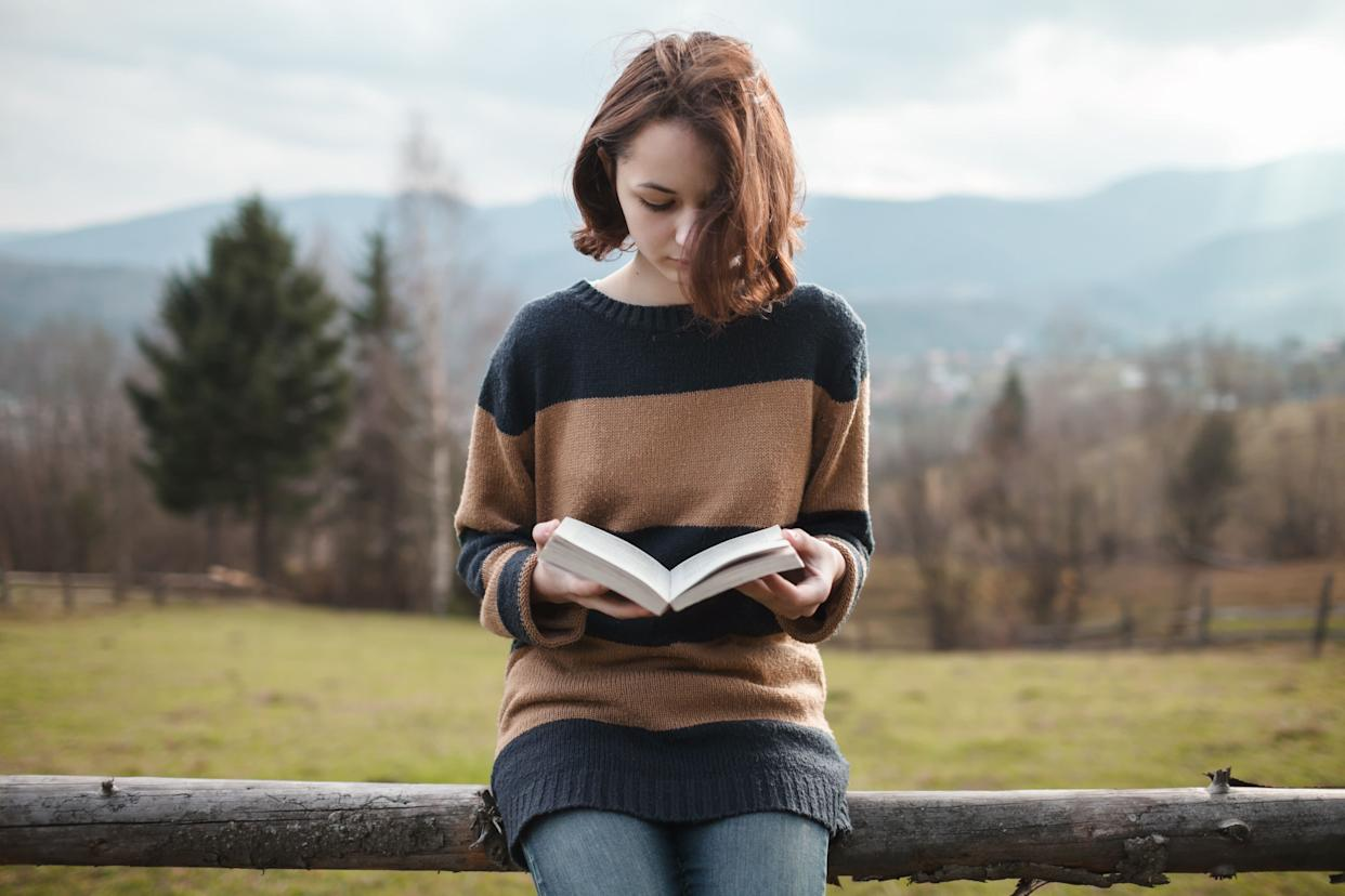 """Read a book for <a href=""""http://www.telegraph.co.uk/health/healthnews/5070874/Reading-can-help-reduce-stress.html"""" rel=""""nofollow noopener"""" target=""""_blank"""" data-ylk=""""slk:six minutes"""" class=""""link rapid-noclick-resp"""">six minutes</a>."""