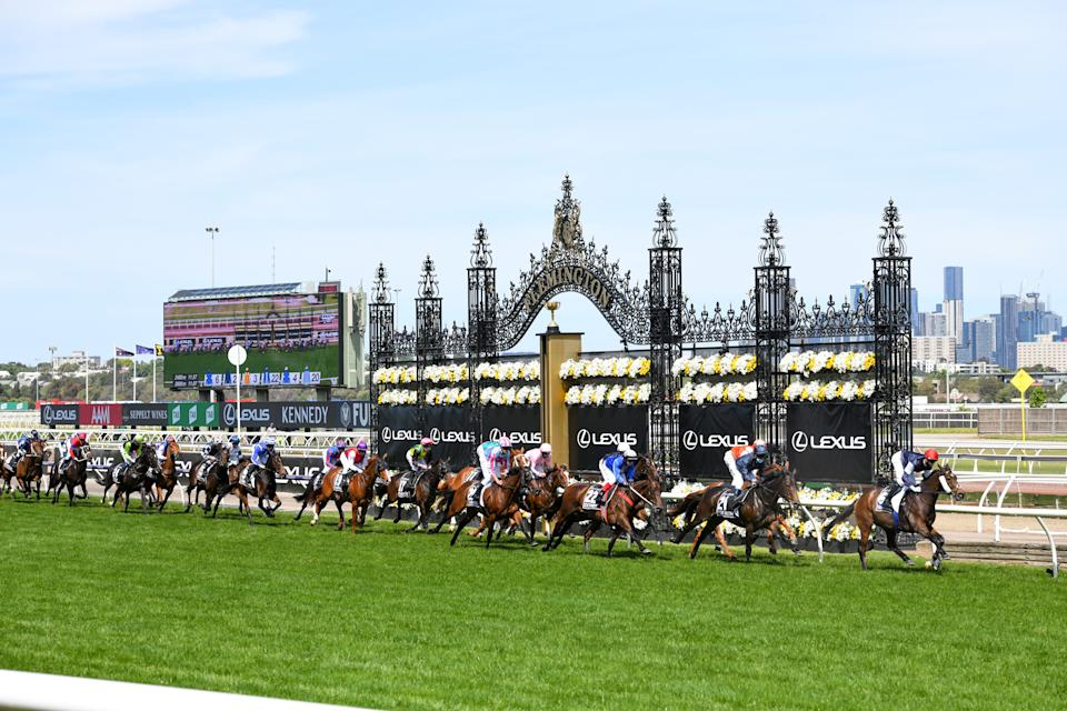 Jockey Jye McNeil riding Twilight Payment produced a front-running display to win the Lexus Melbourne Cup