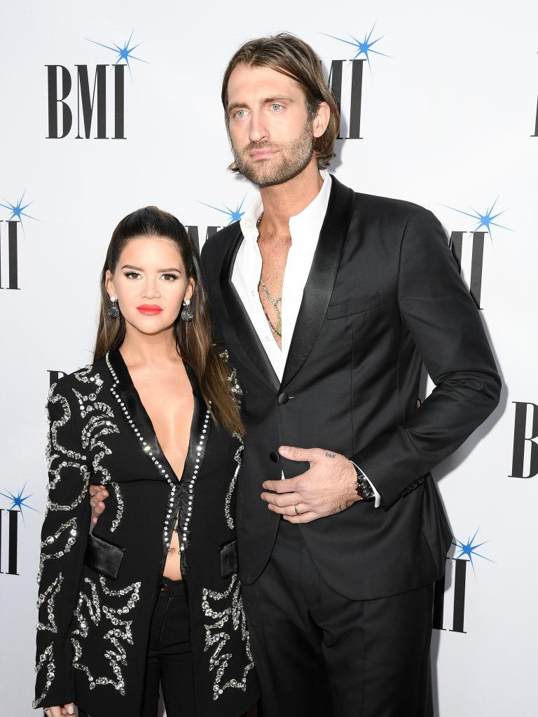 Morris with husband, singer-songwriter Ryan Hurd. (Photo by Mickey Bernal/FilmMagic/Getty Images)
