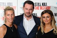 """LONDON, ENGLAND - SEPTEMBER 29: Joanne Mas, Danny Dyer and Dani Dyer attend a photocall for """"We Still Kill The Old Way"""" at Ham Yard Hotel on September 29, 2014 in London, England. (Photo by Stuart C. Wilson/Getty Images)"""