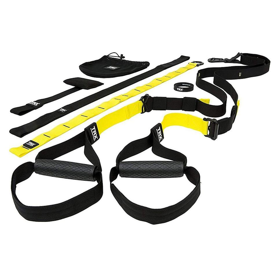 """<p><strong>TRX</strong></p><p>amazon.com</p><p><strong>$199.95</strong></p><p><a href=""""http://www.amazon.com/dp/B00A5ICP32/"""" target=""""_blank"""">Shop Now</a></p>"""
