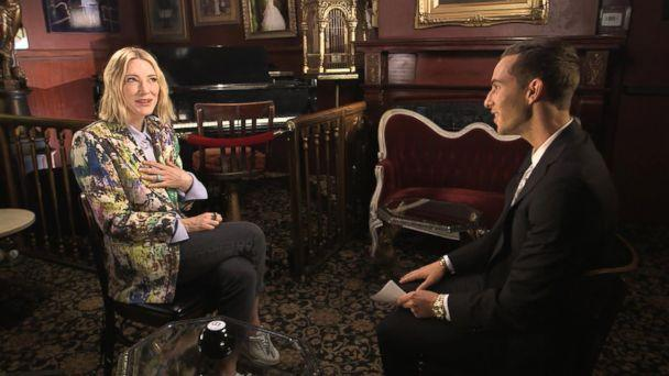 PHOTO: Olympic figure skater Adam Rippon interviewed actress Cate Blanchett for 'Good Morning America.' (ABC News)
