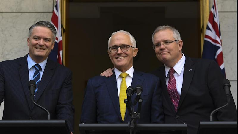 Senior ministers Mathias Cormann and Scott Morrison have both backed Malcolm Turnbull as leader