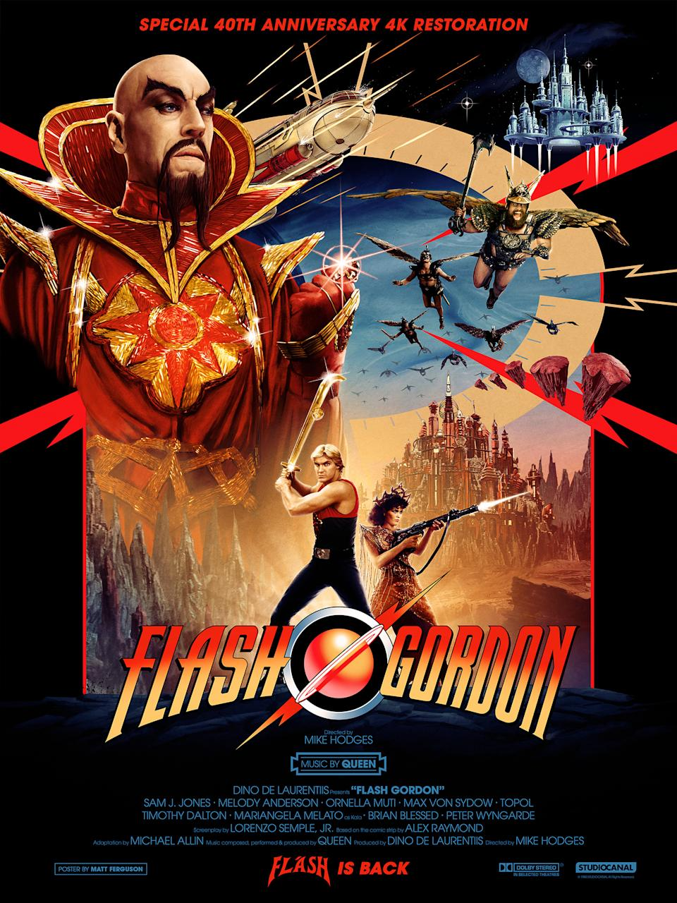 The new Flash Gordon art work, designed by Matt Ferguson. (Studiocanal)