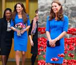 <p>Middleton wore this L.K. Bennet sheath dress in February and August 2014.</p>