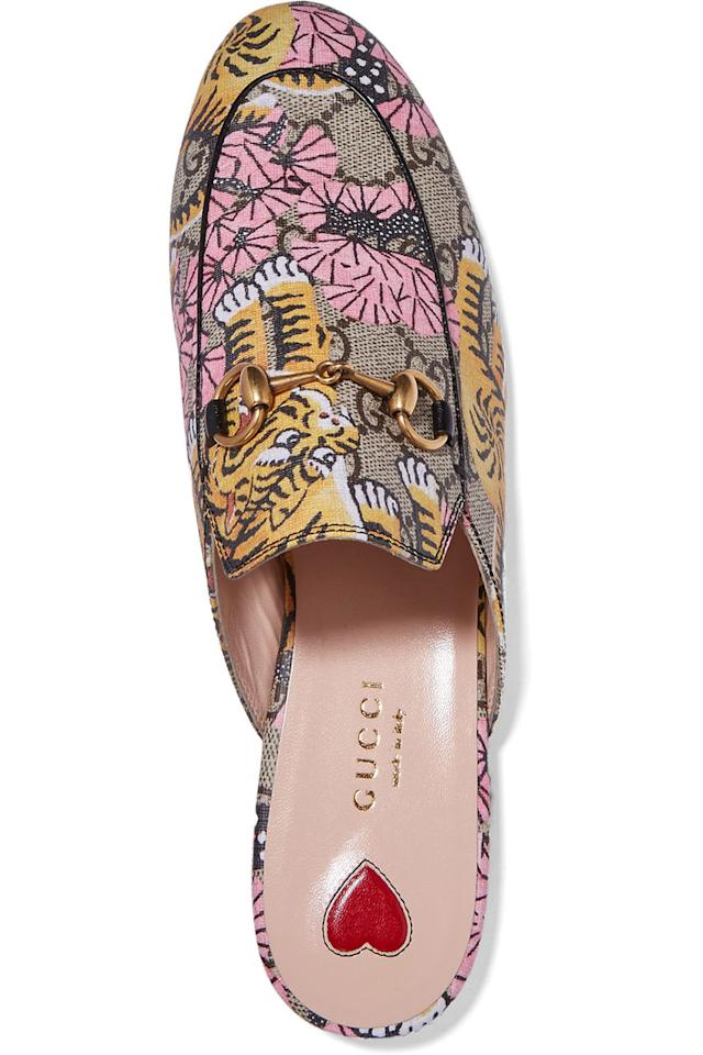 "<p>Lisa Aitken, Retail Fashion Director Net-A-Porter><span>""</span><span>A simple Gucci Princeton loafer became one of the best ways to add a bit of irreverence to an otherwise polished look. On the other hand, we've also sold the Gucci Princeton loafer in jacquard and velvet, amongst other fabrics, and it allows you to dress up a simple t-shirt and jeans. We can barely keep them in stock!""</span> </p>"