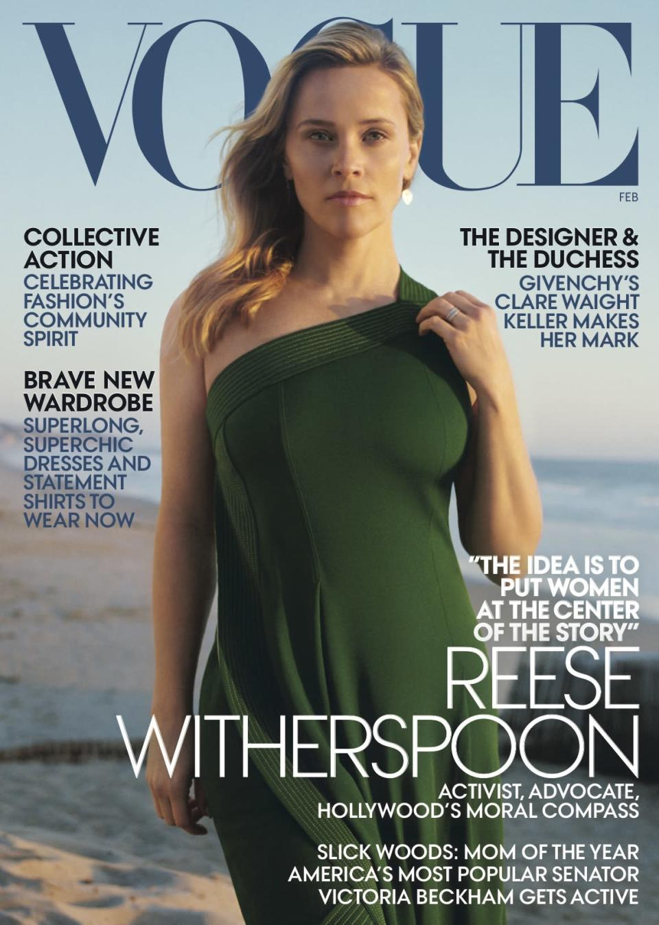 Reese Witherspoon graces the cover of <em>Vogu</em>e's February 2019 issue. (Photo: Zoë Ghertner for Vogue)