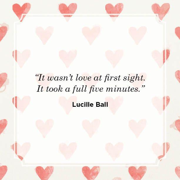 "<p>""It wasn't love at first sight. It took a full five minutes.""</p>"