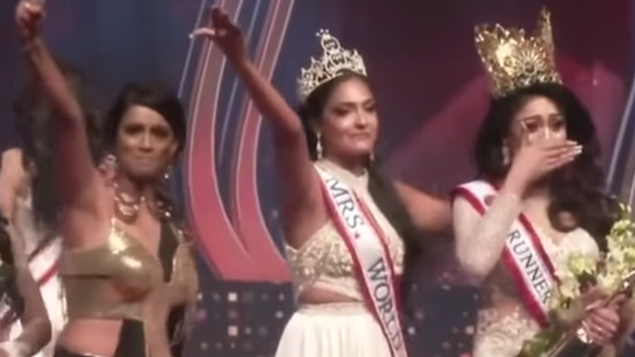 'Ms. Sri Lanka' beauty queen injured in stage brawl