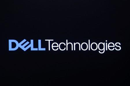 The logo for Dell Technologies Inc. is displayed on a screen on the floor of the New York Stock Exchange in New York