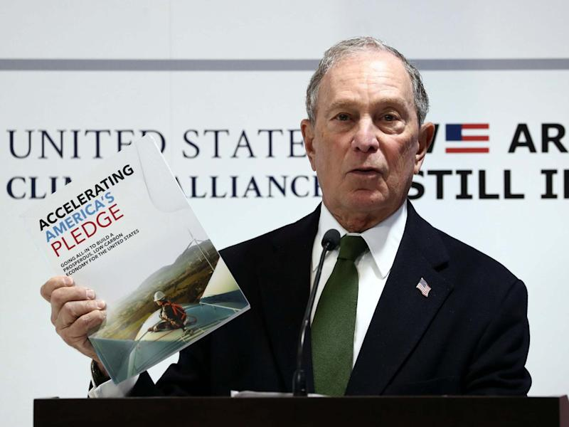 US presidential hopeful Michael Bloomberg speaks during a panel at the U.N. Climate Change Conference: Reuters
