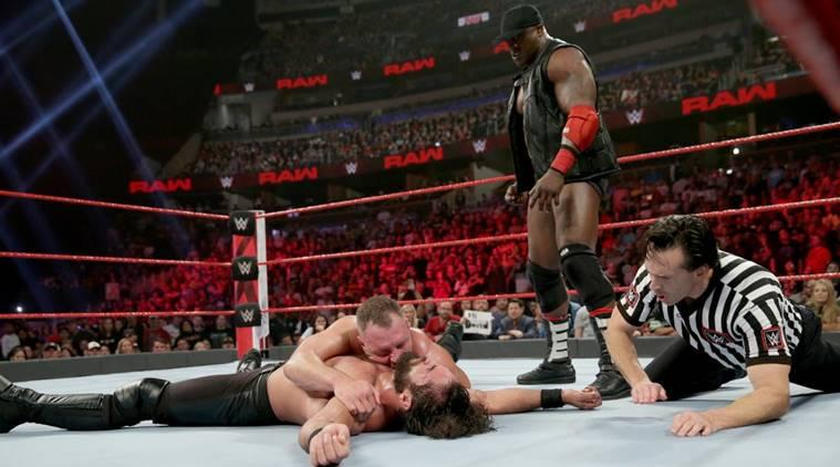 Dean Ambrose, Seth Rollins and Bobby Lashley on WWE Raw