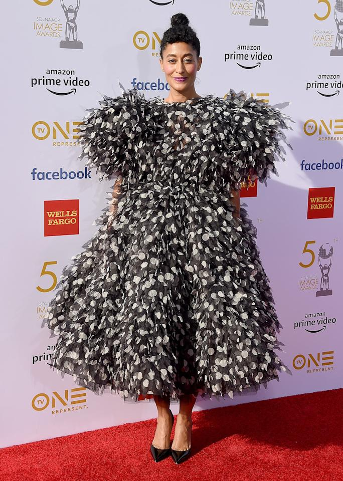 <p>Stop scrolling: Tracee Ellis Ross just further cemented her status as our favourite style muse in frothy Marc Jacobs ruffles. <em>[Photo: Getty]</em> </p>
