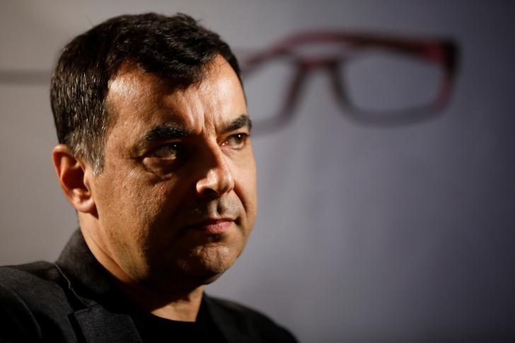 Amnon Shashua, co-founder of Israeli start-up Mobileye, is seen during an interview with Reuters at his second high-tech company, OrCam at their office in Jerusalem